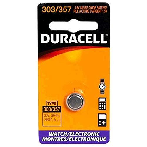 Duracell DL303/357BPK relógio/bateria eletrônica, bandeja de bolso, Preto, 1.5 Volt