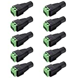 inShareplus 10 Pack 5.5 X 2.1mm Barrel Power 12V DC Power Jake Adapter Connector Plug for CCTV Security Camera LED Strip