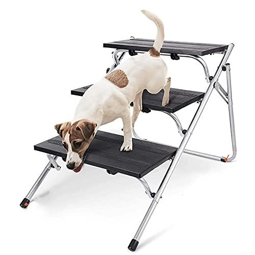 NXL Escaleras para Mascotas/Peldaños para Mascotas Escaleras Portátiles para Perros De 3 Pasos Escaleras Y Rampas para Perros Plegables De 3 Niveles Camas Y Automóviles