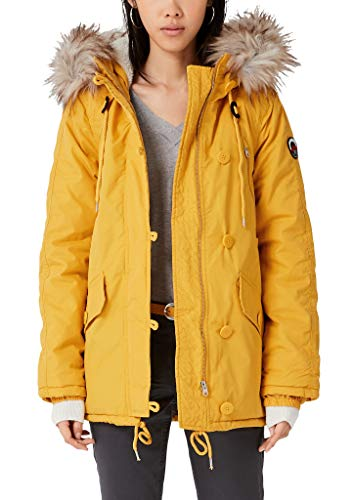 Q/S designed by - s.Oliver Damen Klassischer Parka mit Fake Fur Honey S