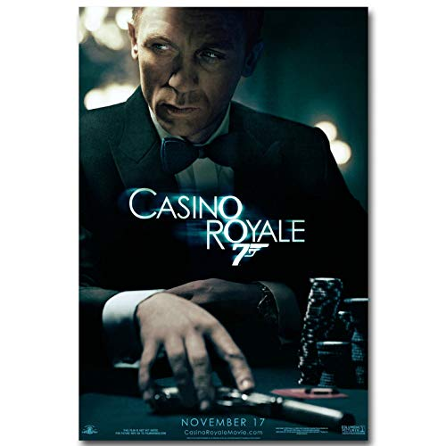 manyaxiaopu James Bond 007 Series Pierce Brosnan Film Classici Arredamento per La Casa Decorazione Carta Kraft Poster Pittura Decorativa A1 40X50Cm