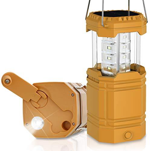 ROCAM LED Campinglampe Tragbar,Wiederaufladbar Solar Camping Laterne mit 4 Lichtmodi, Perfekter Laternen-Taschenlampe Langlebiges Helles Licht für Camping,Wandern,Stromausfällen,Notfal
