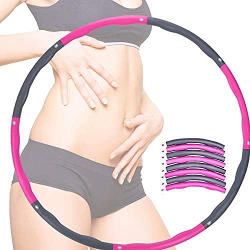 FORANCY Slim Hoop zur Gewichtsreduktion und Massage, 6-8 Abschnitte Abnehmbarer Hoola Hoop Reifen Erwachsene 1,2 Kg Geeignet Für Yoga/Sport/Fitness/Zuhause/BüRo