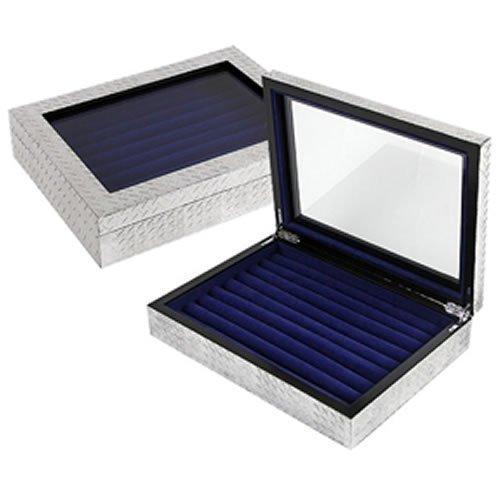 XBR Mini Humidor für Reisen, Zigarren Humidor Qualität Importeure Diamantplatte Manschettenknopf Roheisen Manschettenknopf Box, wunderschönes Finish für Zigarrenlagerung