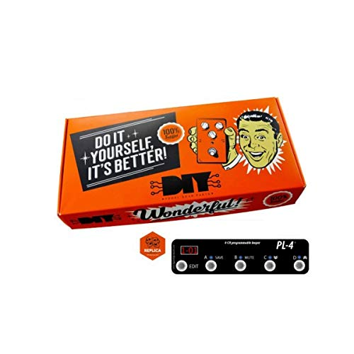 DIYPedalGearParts ® Kit Looper programable de 4 canales con AMP Channel y MIDI OUT