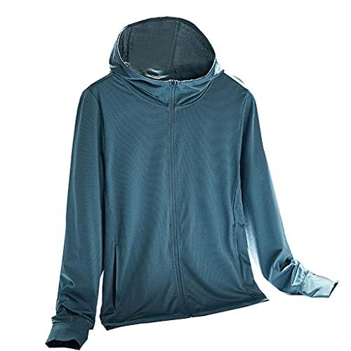 VVXXMO Chaqueta ligera de protección solar para mujer,Chaqueta de protección solar,Abrigo fino de seda de hielo al aire libre de verano