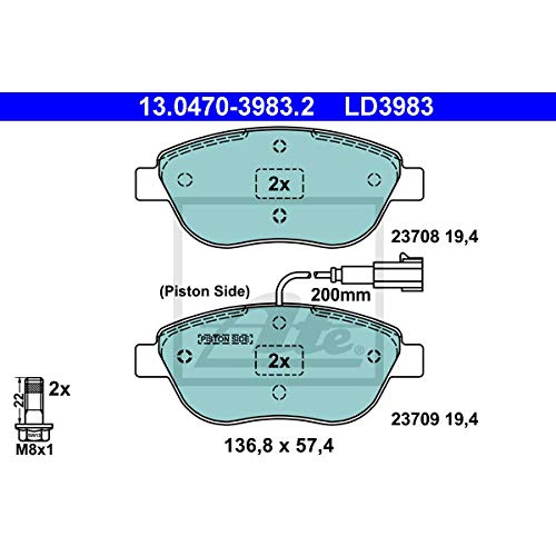 ATE 13047039832 Bremsbelagsatz, Scheibenbremse ATE Ceramic