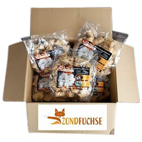 Zündfüchse Premium Beutel 5 kg (ca. 400 Stück) Biologische Holzwolle Anzünder Kaminanzünder Grillanzünder Ofenanzünder Holzanzünder Bioanzünder