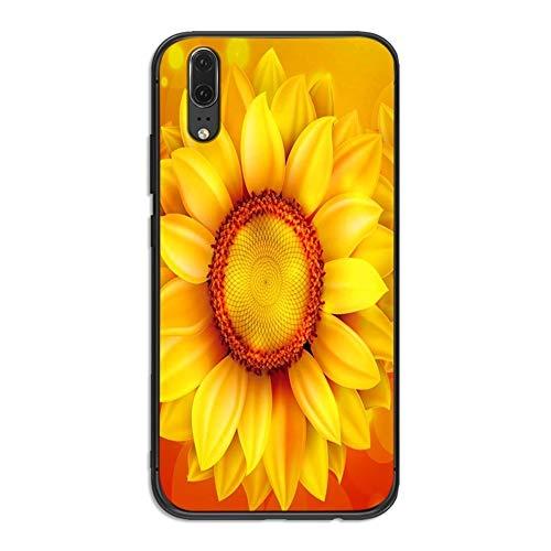 SANKANG For Huawei P10 P20 2019 P8 P9 P30 Mini LITE P Smart Z 2018 P20 Pro Cubierta de la margarita del verano Girasol floral cajas del teléfono móvil (Color : 2)