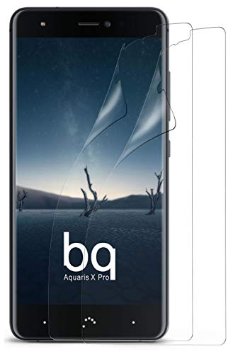 MoEx Protector de Pantalla HD Transparente Compatible con BQ Aquaris X Pro   Antirrayaduras, 2X