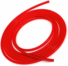 Upgr8 Universal Inner Diameter High Performance 5 Feet Length Silicone Vacuum Hose Line (3MM(1/8 Inch), Red)