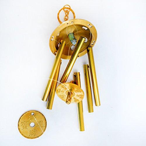fengshuisale Feng Shui Brass 6 Rod All Metal Windchime W Free Red String Bracelet J2004
