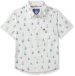 612 League Boys Plain Regular fit Shirt White