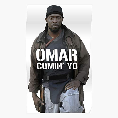 Wire Omar Antihero Fun Shows Cool Gangs Tv The New The Best and Newest Poster for Wall Art Home Decor Room