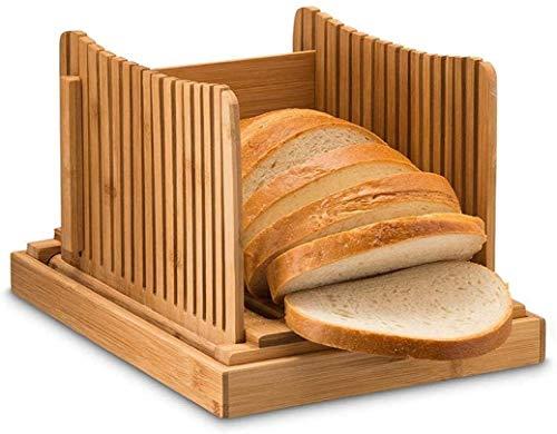 SIRENK Pan rebanador bambú Pan rebanador Tostado a Prueba de Humedad rebanadora Plegable Pan Tablero de Corte Tablero de Pan Ajustable
