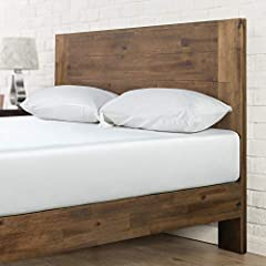 Updated styling with strong wood slat mattress support Easy to assemble and no Box Spring needed/ mattress sold separately Wood headboard and frame with metal interior support Non-slip tape on the wooden slats prevents your mattress from moving Worry...