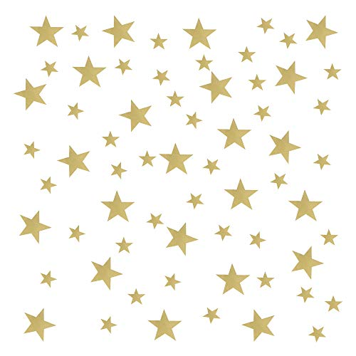 YPLonon Pegatinas de Estrellas para Pared Doradas - 2 Hojas Vinilo Estrellas Infantiles 130 Piezas Estrellas para Pared Decorativas de PVC para Dormitorio de Niña Niño Infantiles y Guardería