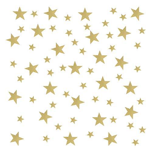 YPLonon Pegatinas de Estrellas para Pared Doradas - 2 Hojas Vinilo Estrellas...