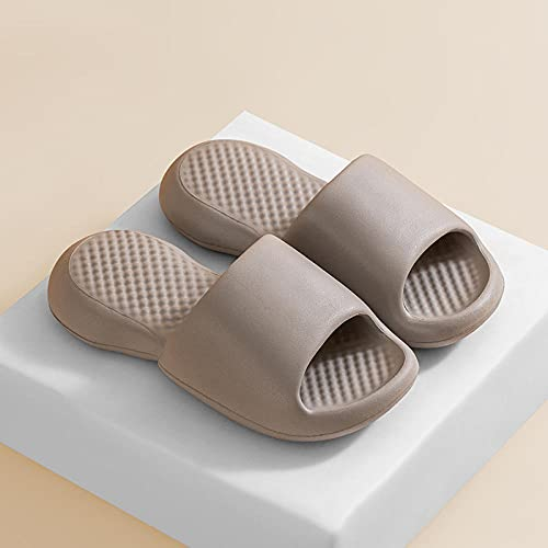 Ririhong Zapatillas de Suela Blanda súper Gruesas para Mujer, Verano, Interior, hogar, Desodorante, baño, Fresco, Hombre, Chanclas-Grey_39-40