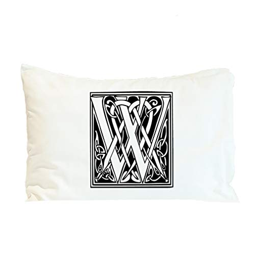 Style In Print Pillow Case W Irish Celtic Monogram Letter Alphabet & Monograms Polyester Home Decor Bed Pillow Covers Design Only 30x20 Inches