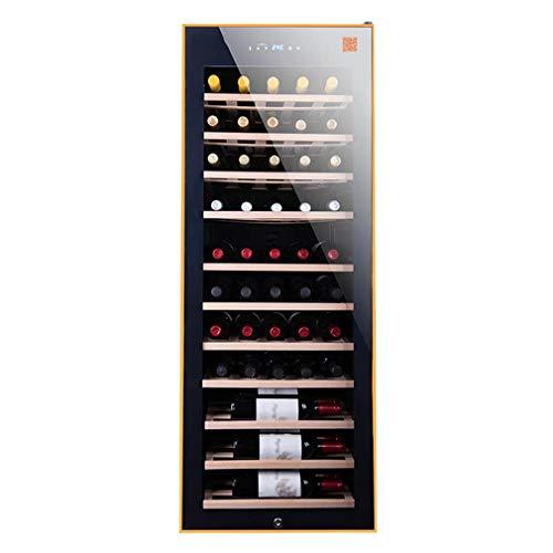 XUNMAIFWC Cantinetta Vino, 500L 50 Bottiglie Sportello a Doppio Vetro Trasparente Illuminazione Interna a LED Blue Display Digitale Temperatura Regolabile 8°-18°C