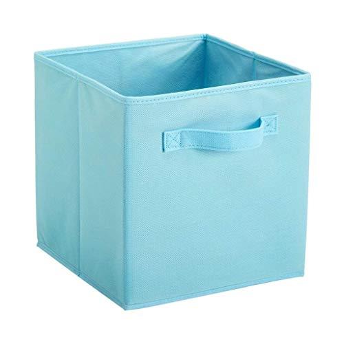 AYCPG Papeleras de Canasta de Tela Plegable, Cubo de Almacenamiento Plegable para viveros y Oficina -10.6inches lucar (Color : Light Blue)