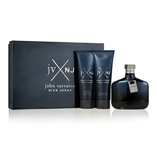 John Varvatos jvXnj 3 Piece Fragrance Gift Set, Cologne for Men, 3 count