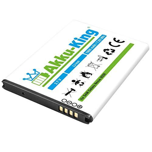 Akku-King Akku kompatibel mit Samsung EB-L1F2HVU - Li-Ion 1900mAh (ohne NFC) - für Galaxy Nexus GT-i9250, SPH-L700