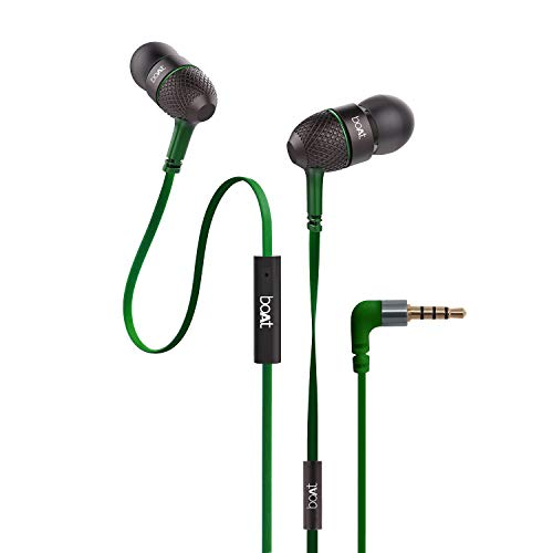 boAt Bassheads 225 in Ear Wired Earphones with Mic(Forest Green)