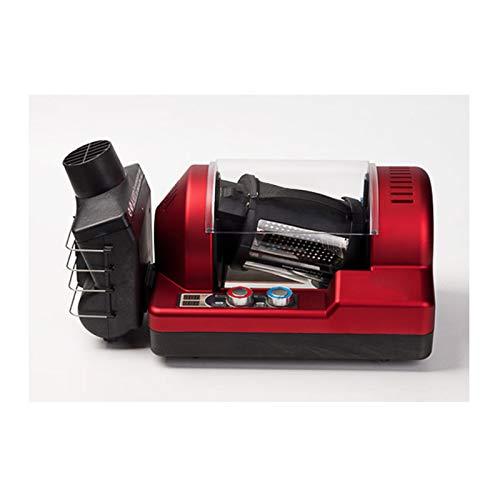 HAGENGOO Haushalts Kaffeeröster Edelstahl Elektrische Rotation Kaffeeröster Einstellbare Temperatur Für Kaffeesatz Erdnüsse Mehlkräuter 220 V (schwarz/Rot)