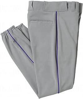All Star Mens Piped Baseball Pants Large Grey/Royal Grey Royal Large