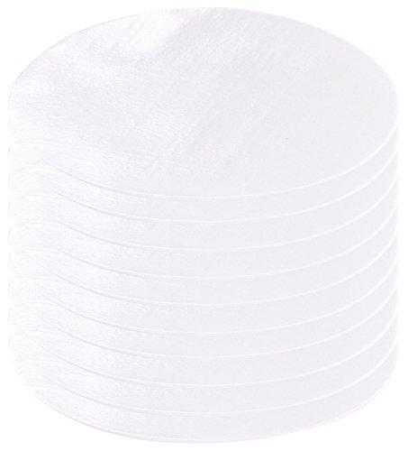 AGT Aufbügelflicken: Schnellhaftende Bügelflicken aus Baumwolle, 10 Stück in weiß (Jeansflicken)