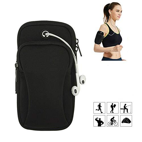 Armtasche,Funmo Armband Armtasche,Rennen Outdoor Armband Handytasche Multifunktionale Doppel Armtasche Armbinde für Handy Bis zu 7,0