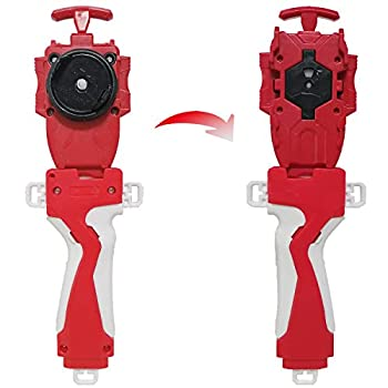 Speder Bey Gyro Blades Launcher and Grip Burst Light Sparking Battling String Launcher Gyro Right Spin TopToys Accessories Red