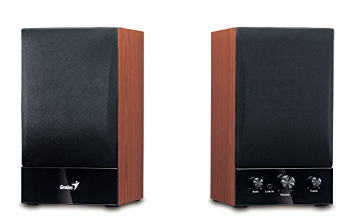 Genius SP-HF 1250B - Altavoces de Ordenador (40 W Amplificador Incorporado, 230 V), marrón