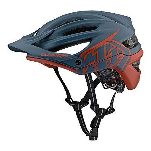 Troy Lee Designs Adult | Trail | Enduro | Half Shell A2 Decoy Mountain Biking Helmet with MIPS (Small, Air Force Blue/Clay)