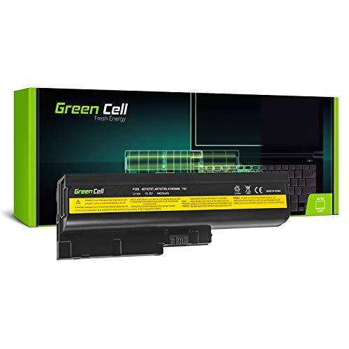 Green Cell Standard Serie Laptop Akku für Lenovo IBM ThinkPad R60 R60i R60e R61 R61e T60 T60p T61 SL400 SL500 R500 T500 W500 (6 Zellen 4400mAh 10.8V Schwarz)