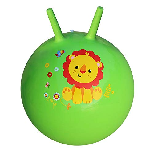 Xyanzi Juguetes para Bebés Bola Saltarina, Bola Inflable De Juguete Infantil para Brincar Y Saltar para Niños De 3 A 6 Años (Bomba Incluida) (Color : Verde)
