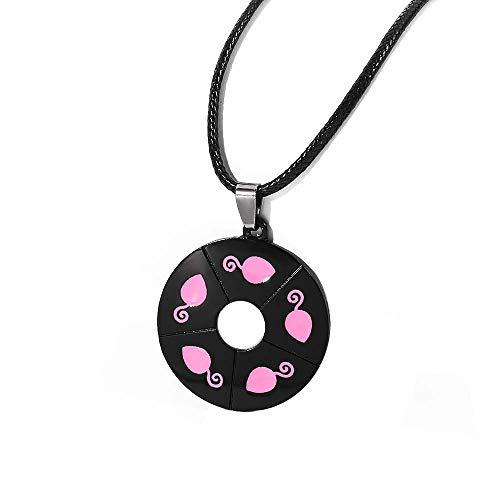 Feidiao Collar de Ladybug con diseño de ratón, mariquita, chat Noir, Cosplay, joya para niños, colgante rosa, para niñas y mujeres, regalo de fandom