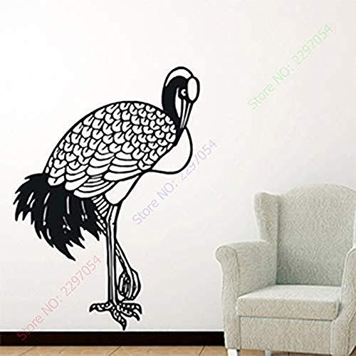 Zykang Wandaufkleber Maße: 63Cm * 93Cm PVC-Wandaufkleber für Vögel mit Fensterkran und Vinyl-Abziehbildern mit glatter Oberfläche