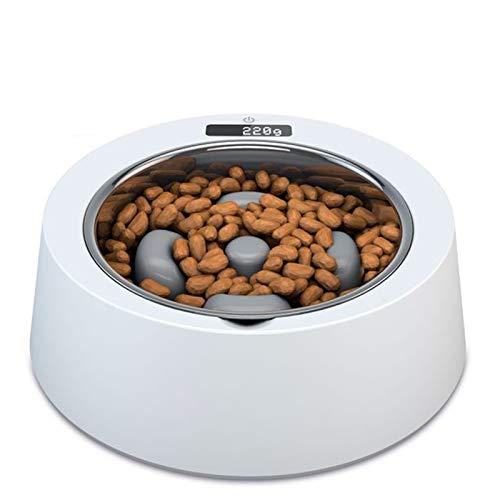 Brushes 700ml Acero Inoxidable Cuenco de Gato Escala de alimentación para Mascotas Alimentación cuantitativa Pet Smart Smart SAFT SAFT Salida Peso PESTURA COVIDAD Capacidad