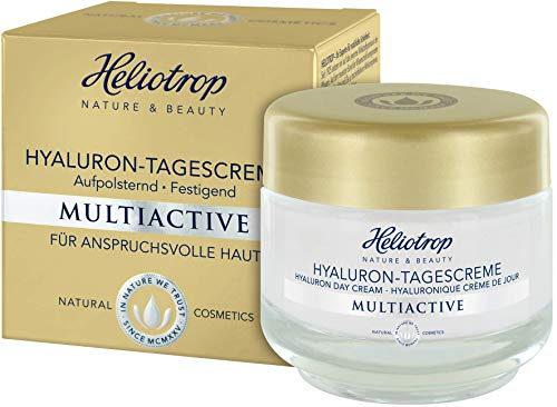 HELIOTROP Naturkosmetik MULTIACTIVE Hyaluron-Tagescreme, Soforteffekt für einen frischen, verjüngten Teint, Beugt vorzeitigen Alterungsprozessen vor, Vegan, 50ml