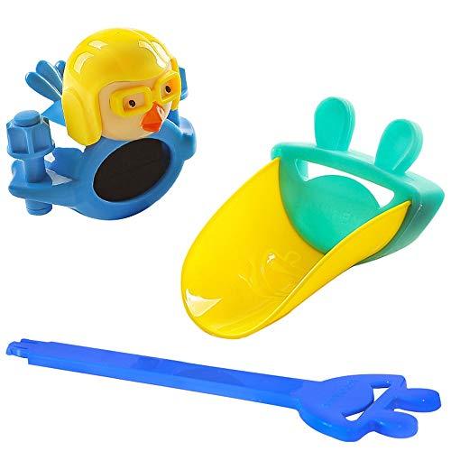 Msddc Robinet for Enfants Extender Jouets for Le Bain Baignoire Jouets for 1 2 3 Ans Enfants Tout-Petits Bath Wall Toy Cascade Fill Spin and Flow Non Toxic Anniversaire Idées Cadeaux Color Box