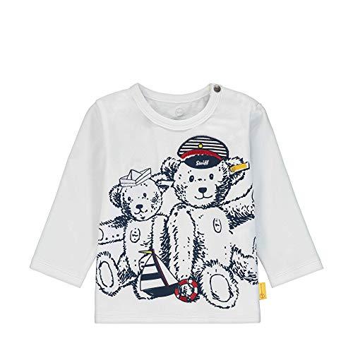 Steiff Baby-Jungen T-Shirt Langarm Langarmshirt, Weiß (Bright White 1000), 62 (Herstellergröße: 062)