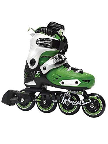 KRF The New Urban Concept FreeSkate First Inline Skates - Verstellbare Rollschuhe Für Jungen/Mädchen/Kinder, Green, 32-35