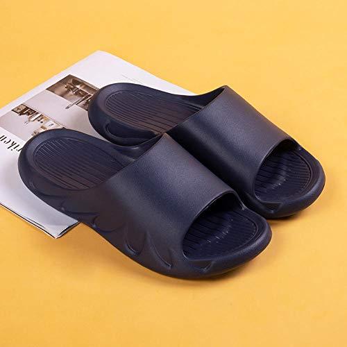XZDNYDHGX Verano Antideslizante Zapatillas Casa Hombre,Sandalias y Zapatillas de Interior Unisex Eva Hotel, Chanclas para Mujer y Hombre, Zapato de Ducha Antideslizante, Azul Marino, EU 39-40