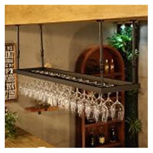 Portabotellas de vino, soportes de vidrio colgantes, soportes de vidrio, soportes creativos, para sala de estar, bares, hogar, restaurante, 3 colores (color: negro, tamaño: 60 cm)