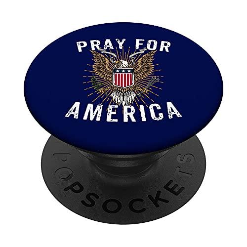 Orar por América Águila Calva Gran Sello de los Estados Unidos PopSockets PopGrip Intercambiable