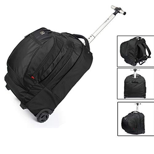 LHY SAVE Große Kapazität Rucksack Trolley Laptop Rucksack Mit Rollen,Verstellbaren Schultergurte, Rucksäcke für Reisen, Business, Outdoor,35 * 53 * 19cm