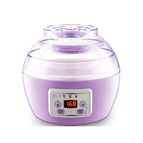 ZSQAI Joghurtmaschine nach Hause, automatische intelligente Joghurtfermentationsmaschine, hausgemachter Natto-Reiswein mit großer Kapazität (Farbe : Lila)